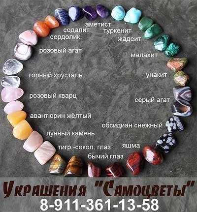 Украшения купить в Пскове. Натуральные камни - самоцветы