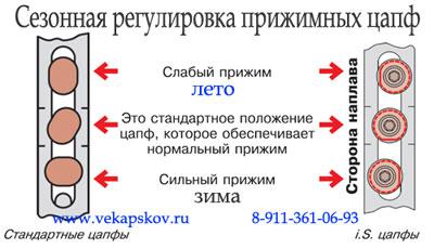 """Окна Псков, фурнитура МАСО позволяет отрегулировать прижим створки в зависимости от сезона: """"зима-лето""""."""